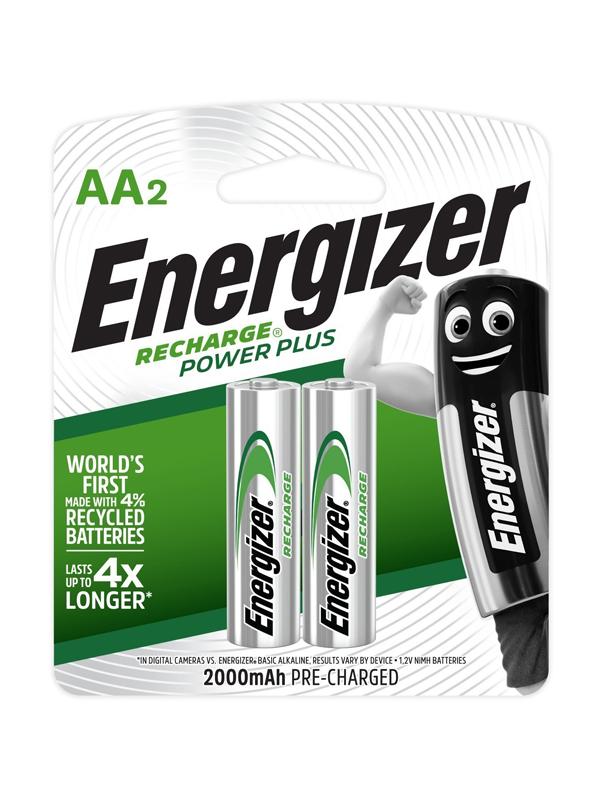 Energizer Recharge Powerplus: AA - 2 Pack (2000 mAh)