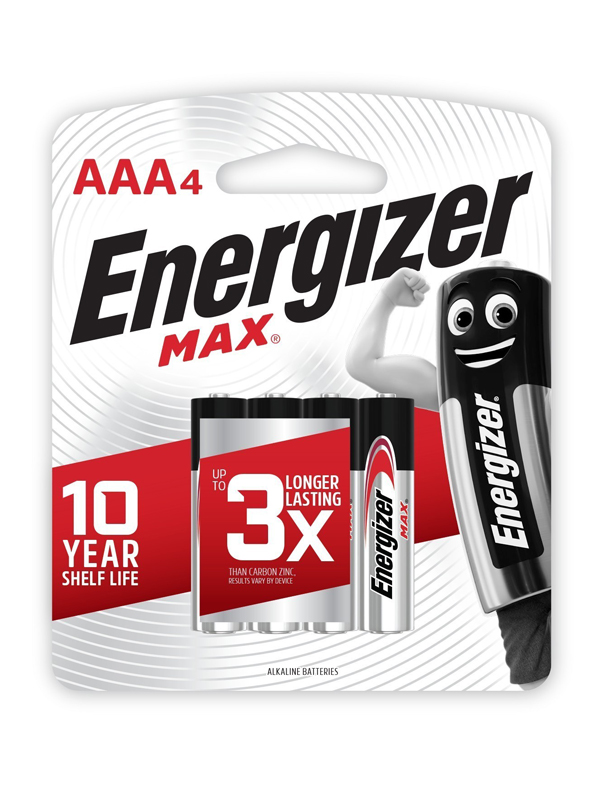 Energizer Max: AAA - 4 Pack