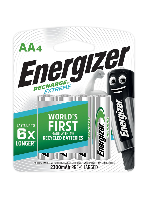 Energizer Recharge Extreme : AA - 4 Pack (2300mAh)