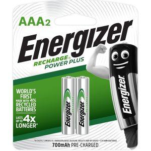 Energizer Recharge Powerplus: AAA - 2 Pack (700mAh)