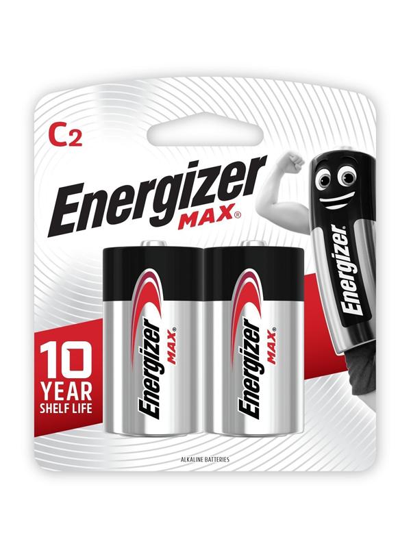 Energizer Max: C - 2 Pack