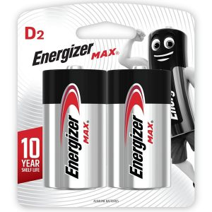 Energizer Max: D - 2 Pack