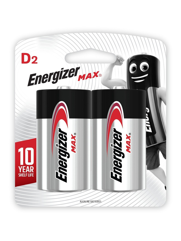 Energizer Max: D - 2 Pack