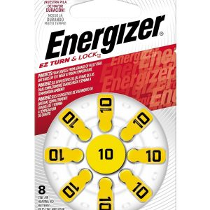 Energizer Hearing Aid Zinc Air TFT Battery: 10 8 pack