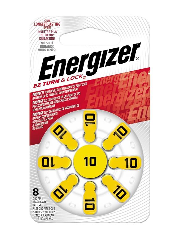 Energizer Hearing Aid Zinc Air TFT Battery: 10 8 pack