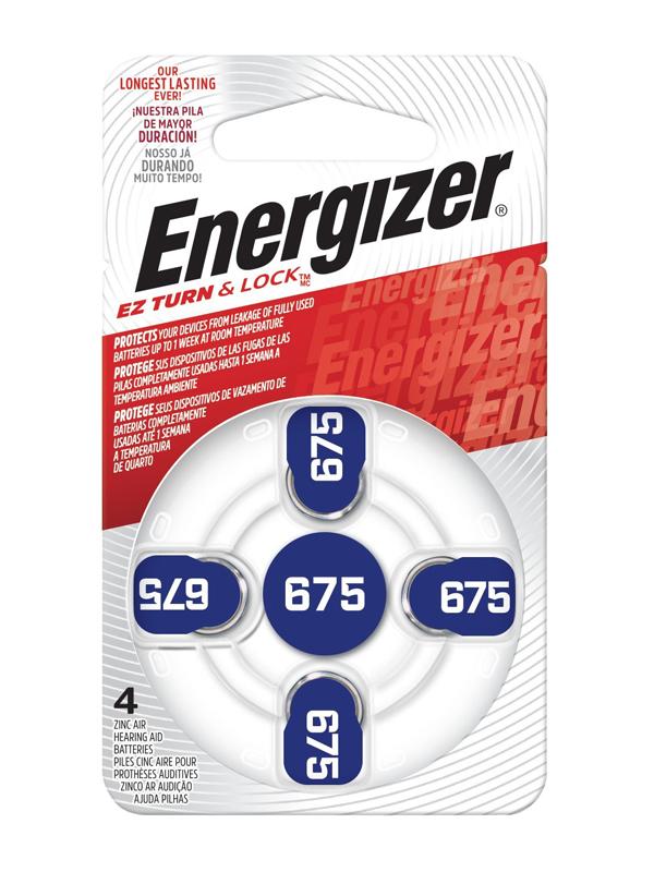 Energizer Zero Mercury Hearing Aid Battery: 675