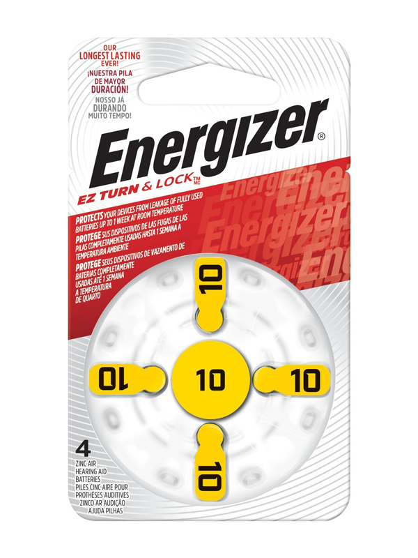 Energizer Hearing Aid Zinc Air TFT Battery: 10 4 pack