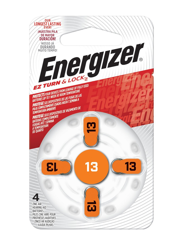 Energizer Hearing Aid Zinc Air TFT Battery: 13 4 pack