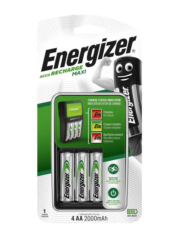 Energizer Charger :Maxi Charger (with 4 x 2000mAh AA )