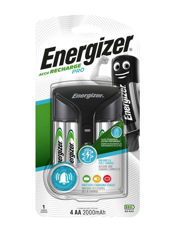 Energizer Charger :Pro Charger (with 4 x 2000mAh AA )