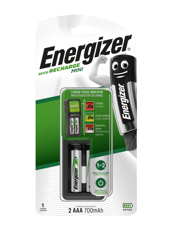 Energizer Charger : Mini Charger (with 2 x 700mAh AAA)
