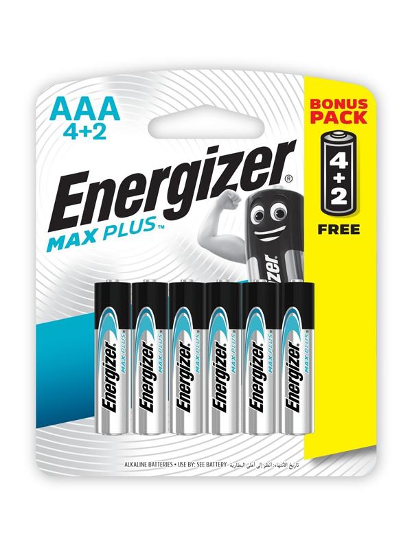 Energizer MAXPLUS AAA - 6 Pack 4+2 Free