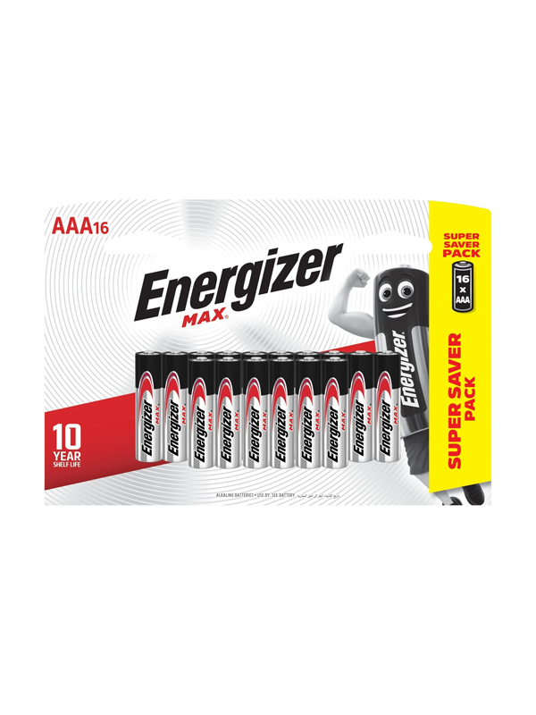 Energizer Max: AAA - 16 Pack
